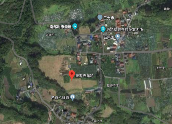 聖寿寺館 google map